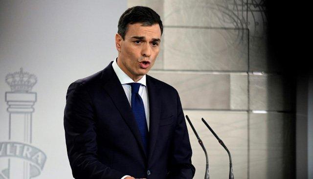 Le Premier ministre espagnol Pedro Sanchez à Lisbonne, le 8 décembre 2018