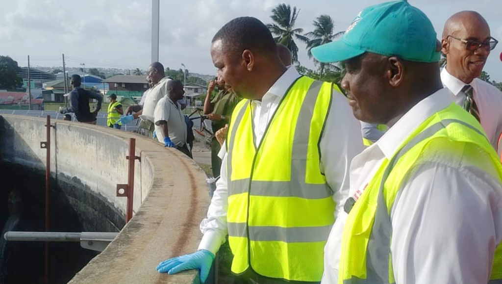 Minister Wilfred Abrahams at the Bridgetown Sewage Treatment Plant back in July 2018. (FILE)