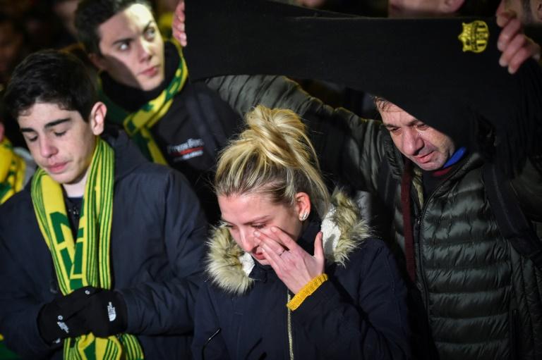 Des supporters nantais rendent hommage à Emiliano Sala, le 22 janvier 2019 à Nantes