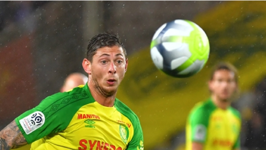 Emiliano Sala playing for Nantes.