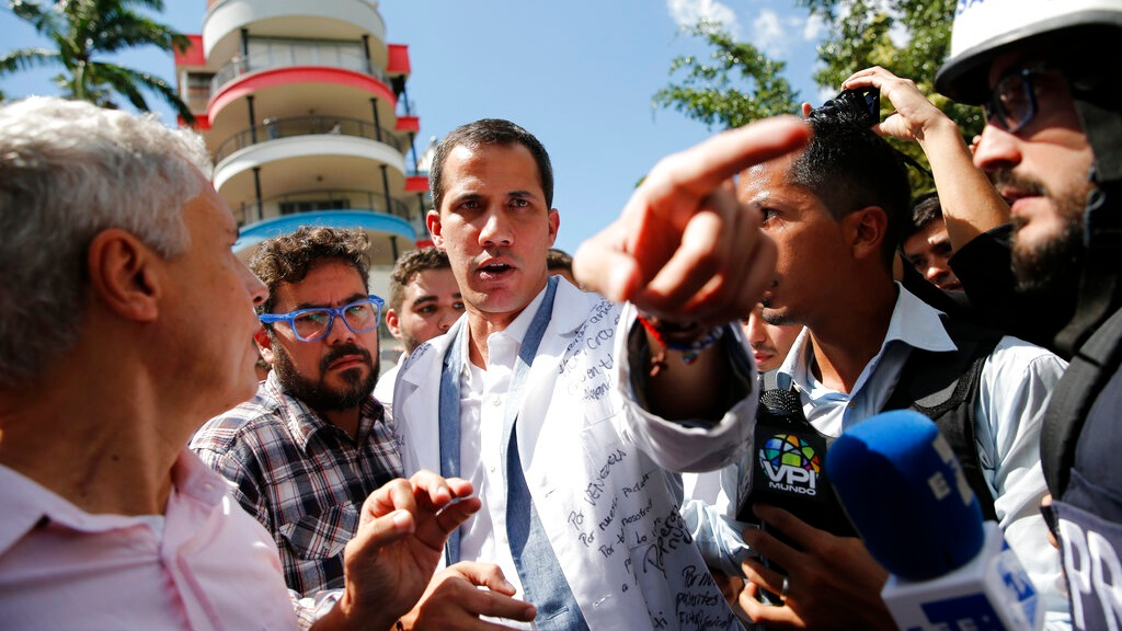 Photo: Venezuelan presidential rival Juan Guaidó. Guaidó has received the backing of the US, Canada, Australia, the UK and most recently the EU parliament as the interim president of Venezuela. The US rejected Nicolas Maduro's legitimacy after he won a second presidential term in January.