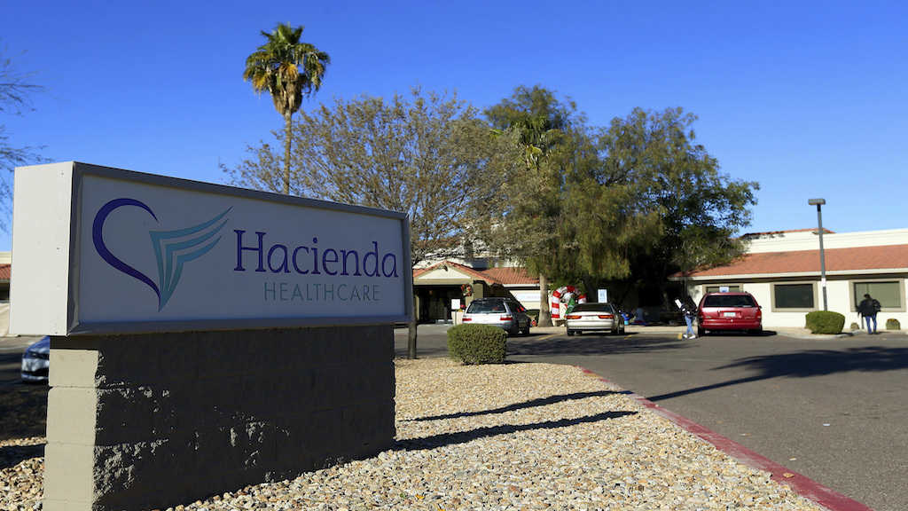 This Friday, January 4, 2019, photo shows Hacienda HealthCare in Phoenix. (AP Photo/Ross D. Franklin)
