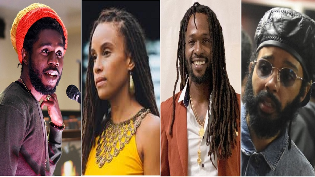(From left) Reggae singers Chronixx, Kelissa, Jesse Royal and Protoje.