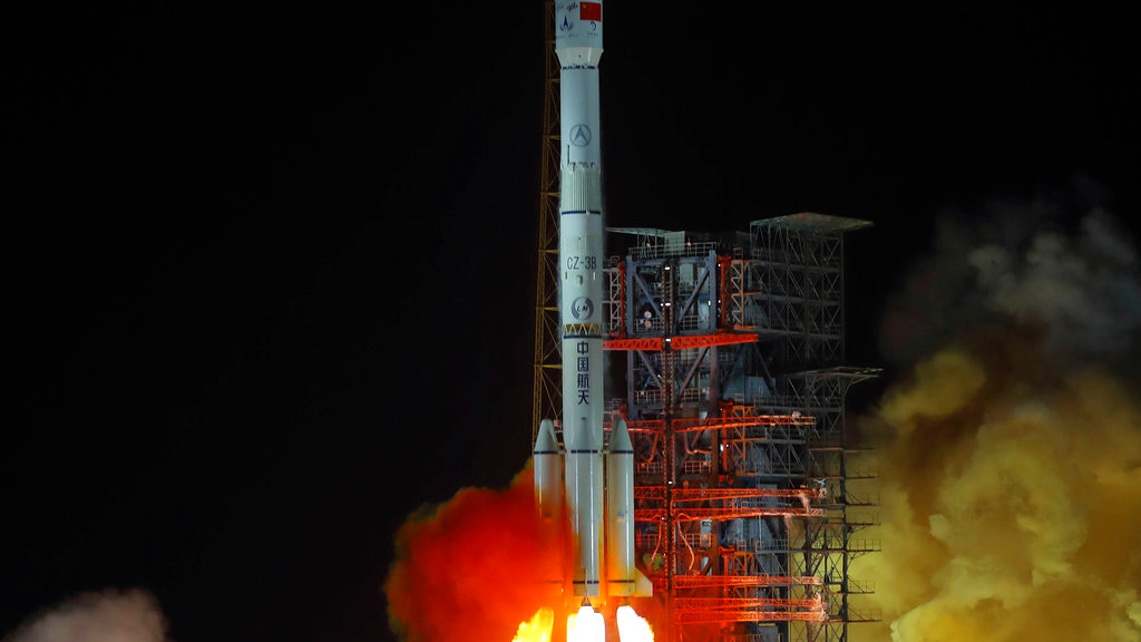 FILE - In this Dec. 8, 2018, file photo, and released by Xinhua News Agency, the Chang'e 4 lunar probe launches from the the Xichang Satellite Launch Center in southwestern China's Sichuan province. The official China Central Television says Thursday, Jan. 3, 2019, the lunar explorer Chang'e 4 had touched down at 10:26 a.m to make first-ever landing on the far side of the moon. (Jiang Hongjing/Xinhua via AP, File)