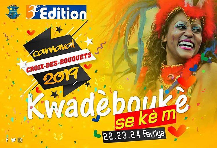 L'affiche annoncant le carnaval de la commune