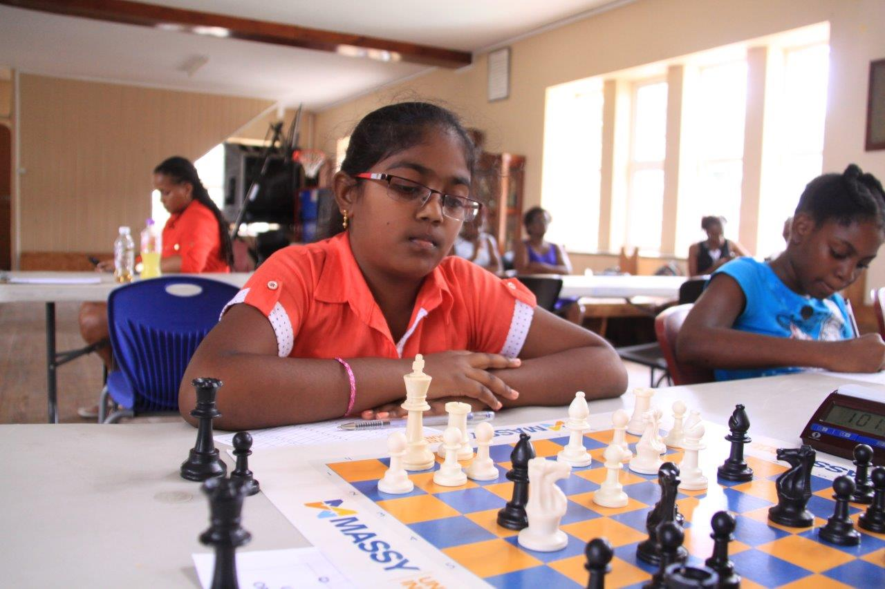 Hannah Wilson dominated the Under-10 division with a clean sweep of the boards. (Barbados Chess Federation/Corie Elcock Pictures)