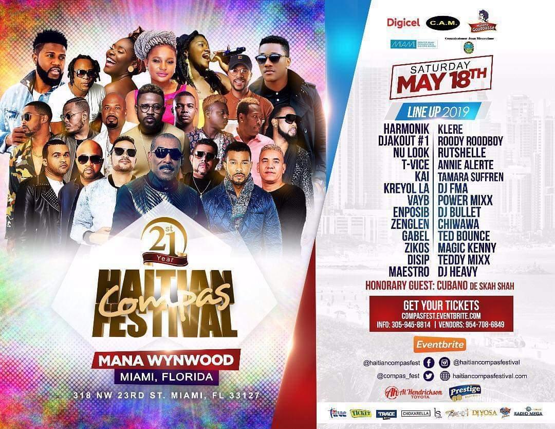 Le line-up de la 21e edition de Haitian Compas Festival