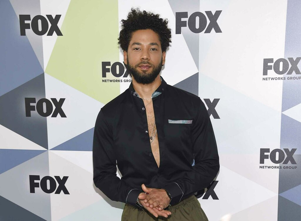 "FILE - In this May 14, 2018 file photo, Jussie Smollett, a cast member in the TV series ""Empire,"" attends the Fox Networks Group 2018 programming presentation after party in New York.  (Photo by Evan Agostini/Invision/AP, File)"