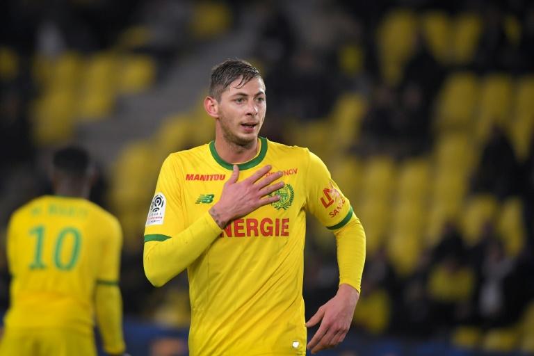 L'attaquant argentin de Nantes, Emiliano Sala, lors du match de Ligue 1 face à Montpellier, à La Beaujoire, le 8 janvier 2019