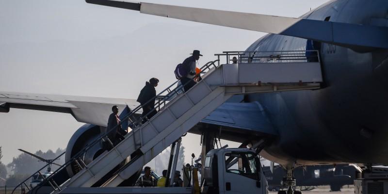 170 Haïtiens reviennent du Chili ce 22 janvier pour le 4ème vol. Photo: AgenciaUno