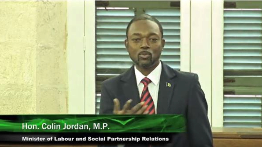Minister of Labour and Social Partnership Relations, Colin Jordan.