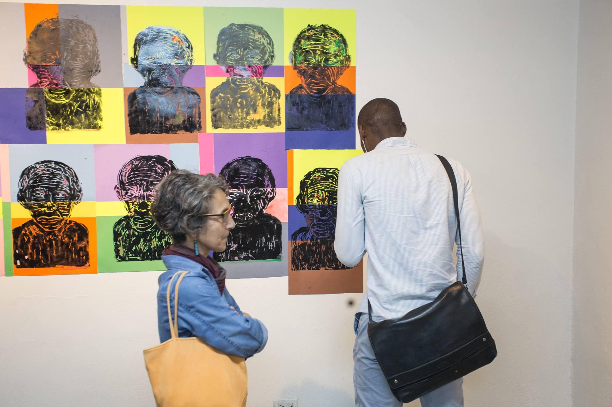 """Vernissage de l'exposition """"Magie Noire"""" des peintres  Pasko et Killy, à l'Institut Français d'Haïti le lundi 5 Novembre 2018 dans le cadre des activités en amont de la quinzième édition du Festival Quatre Chemins./Photo: Association Quatre Chemins"""