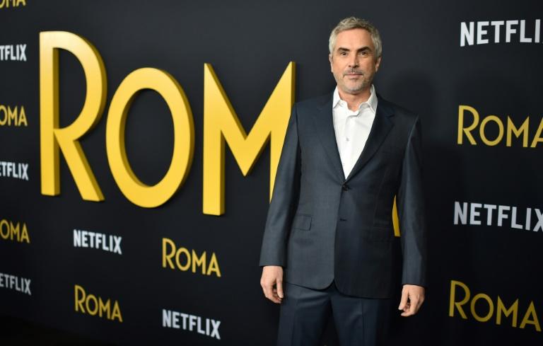 """Le réalisateur mexicain Alfonso Cuarón à Los Angeles pour la première projection de """"Roma"""", le 10 décembre 2018. Robyn Beck, AFP"""