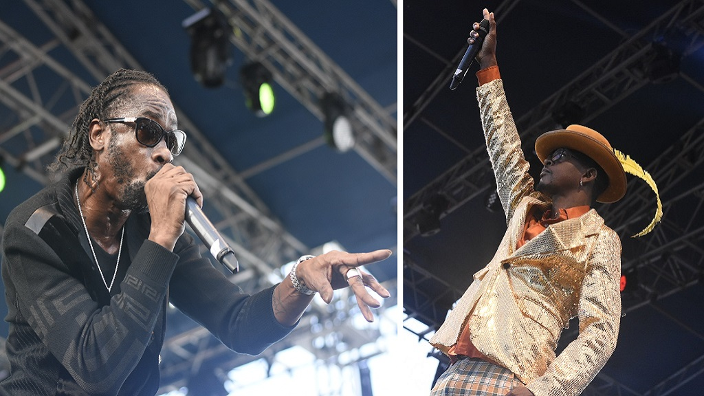 Bounty Killer (left) and Mr Vegas. (PHOTOS: Marlon Reid)