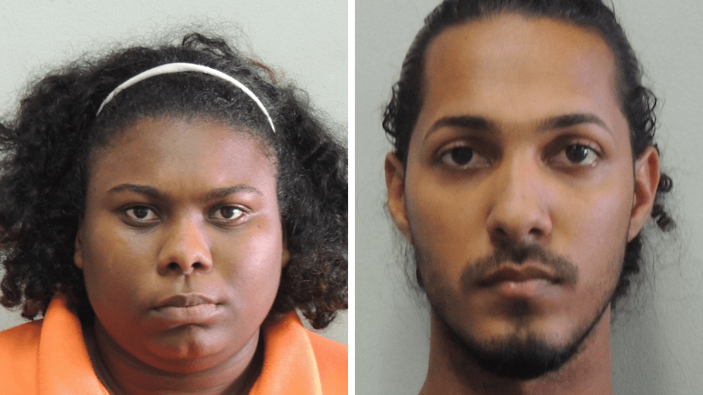 Fraudsters: At left, Tiffany Batson-Joseph, and at right, Troy Mohammed have been charged with conspiracy to defraud Republic Bank Limited.