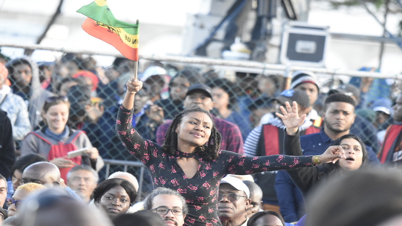 Rebel Salute patrons captivated by the sounds of reggae music at Grizzly's Plantation Cove in St Ann over the weekend. (PHOTO: Marlon Reid)