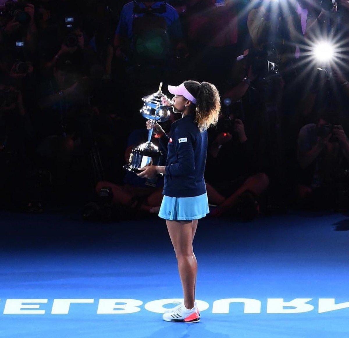 La numéro 1 mondiale Naomi Osaka. Photo: Tweeter de Naomi