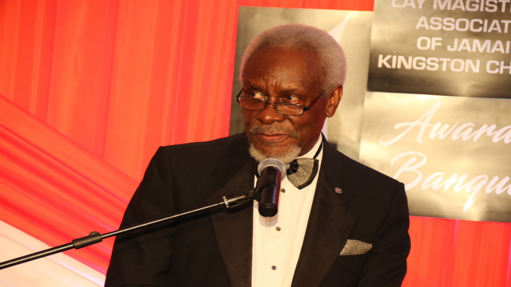 Former PM PJ Patterson was addressing the Kingston Lay Magistrates Awards Ceremony. (Photo: Llewellyn Wynter).