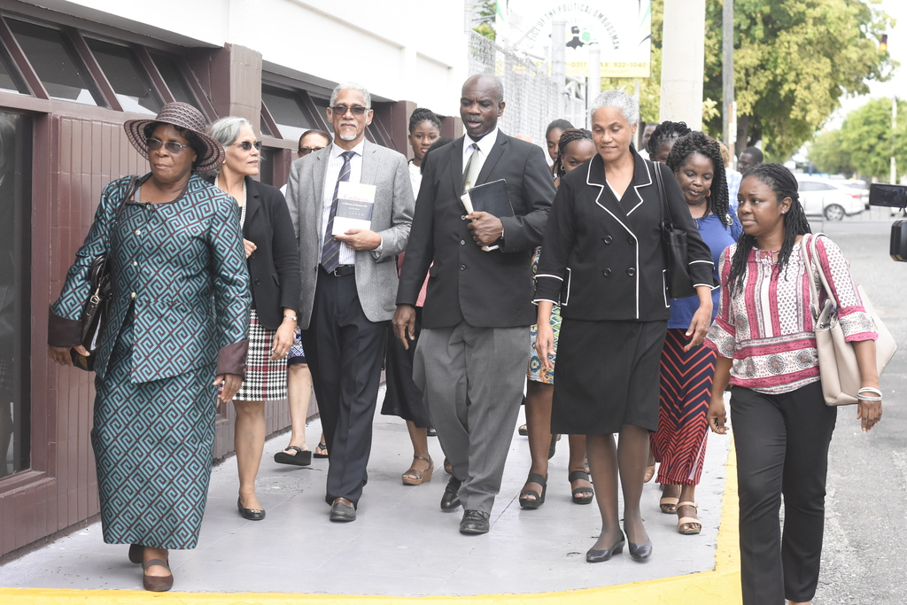 The church leaders from various denominations marched to Parliament on Wednesday to support their members who appeared before Parliament to put forward arguments against the legalisation of abortion.
