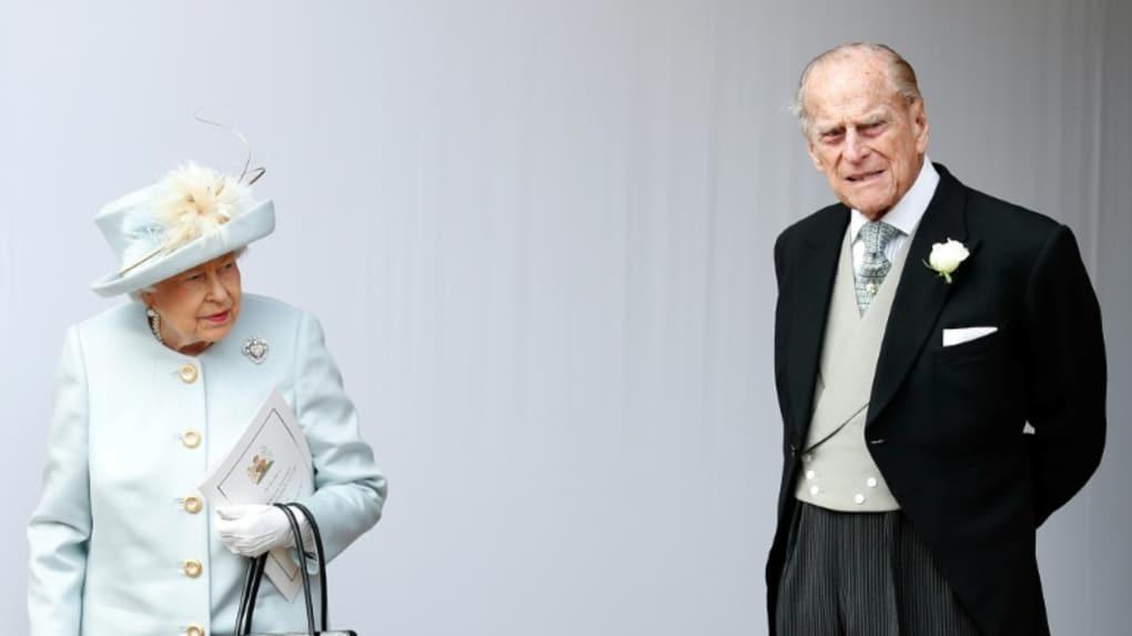 Photo archive du 12 octobre 2018 montrant le la reine Elizabeth II et le prince Philip à Windsor