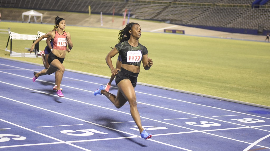 Two-time Olympic champion Shelly-Ann Fraser-Pryce wins section two of the women's 60m invitational at the Queen's/Grace Jackson Meet at the National Stadium on Saturday, January 26, 2019. (PHOTOS: Marlon Reid).