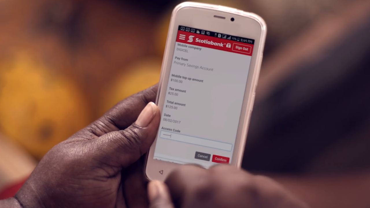 No data cost for Scotia customers banking with app on