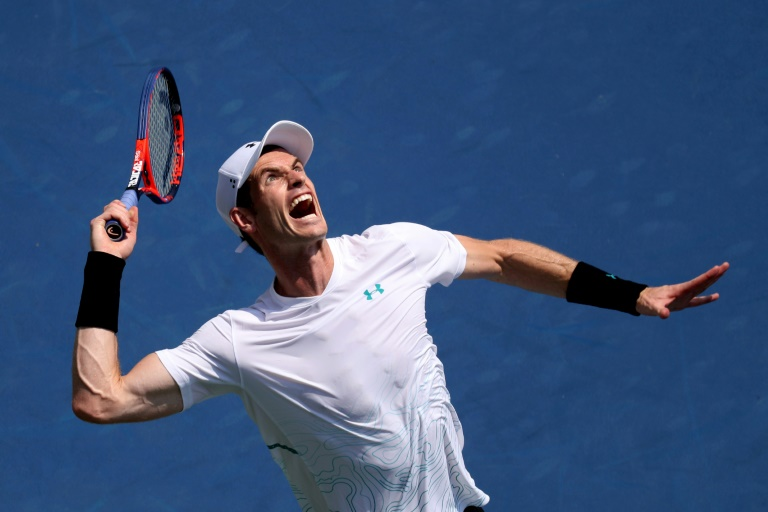 Andy Murray, le 13 août 2018 à Mason (Etats-Unis)