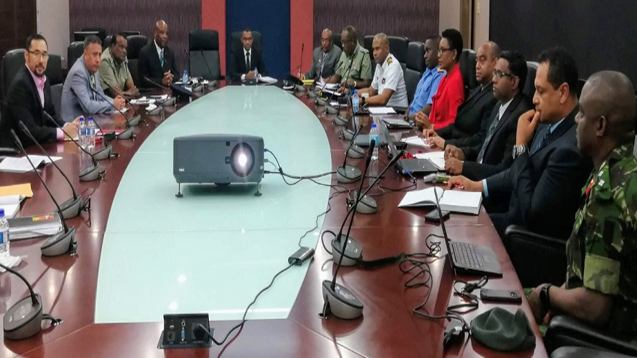 Minister of National Security, Stuart R Young, meets with Heads of law enforcement, border security officials and intelligence agencies on enhancing border security