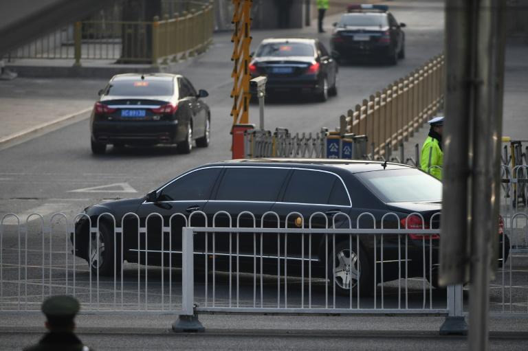 Le train spécial du dirigeant nord-coréen Kim Jong Un quitte la gare de Pékin le 9 janvier 2019