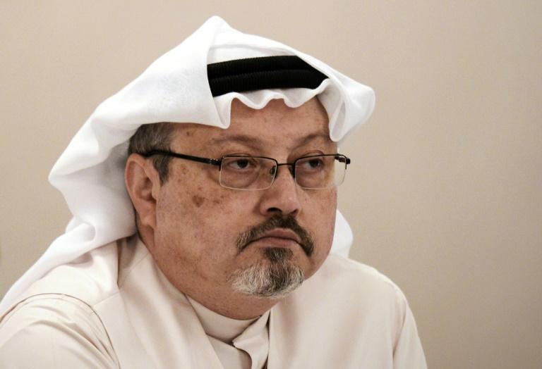 Le journaliste Jamal Khashoggi lors d'une conférence de presse à Manama, le 15 décembre 2014