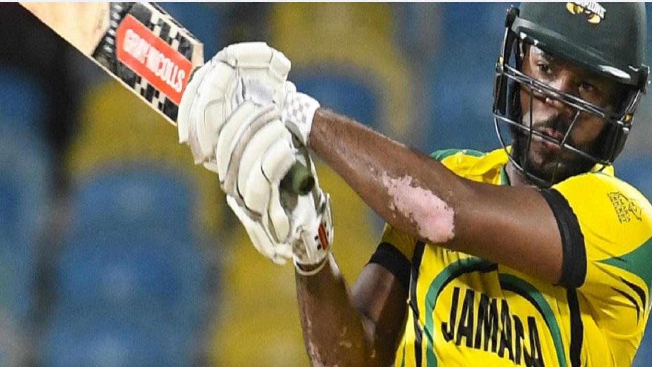 Jamaican left-handed opening batsman John Campbell.