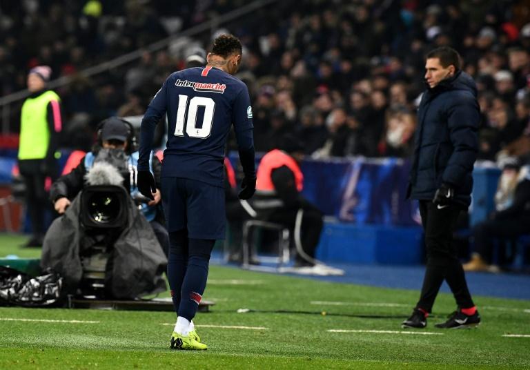 L'attaquant brésilien du Paris-SG, Neymar, lors du 16e de finale de la Coupe de France face Strasbourg, au Parc des Princes, le 23 janvier 2019