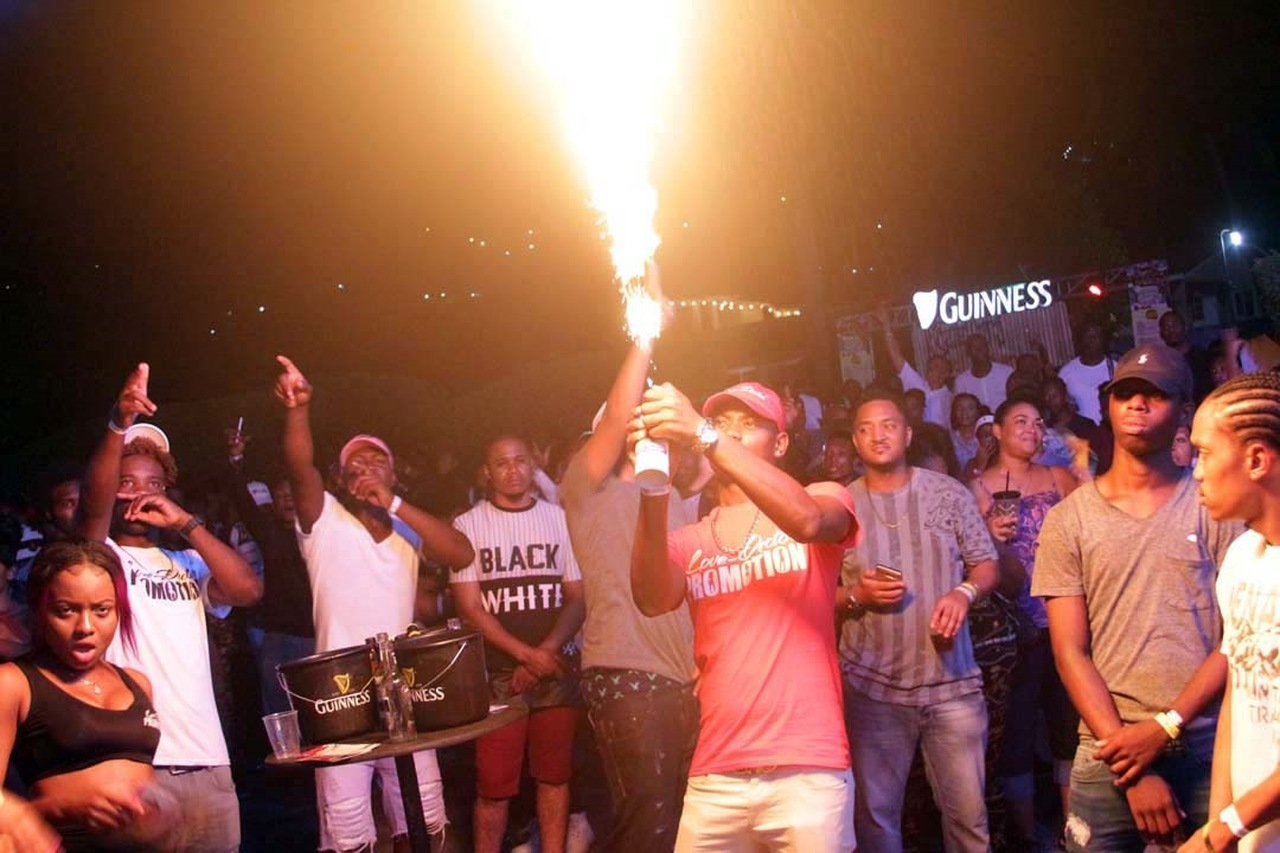 Dancehall fans enjoy a street party last year.