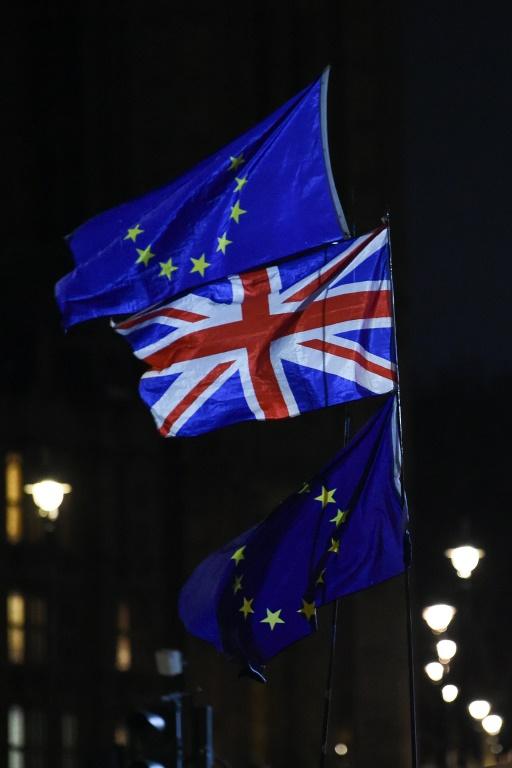 La Première ministre britannique Theresa May quitte le 10,Downing Street le 15 janvier 2019 avant que les députés britanniques ne votent sur l'accord de divorce conclu avec l'Union européenne
