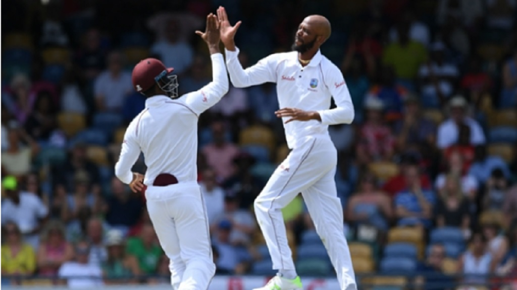 Roston Chase celebrates.