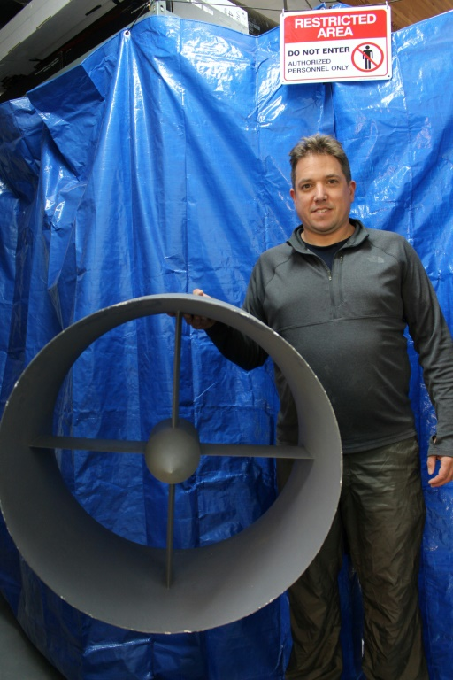 Le cofondateur de NFT Guy Kaplinsky qui doit présenter une voiturre volante au CES de Las Vegas © AFP Photo
