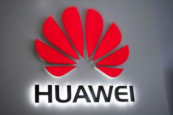 Le logo de Huawei, le 29 janvier 2019 à Pékin