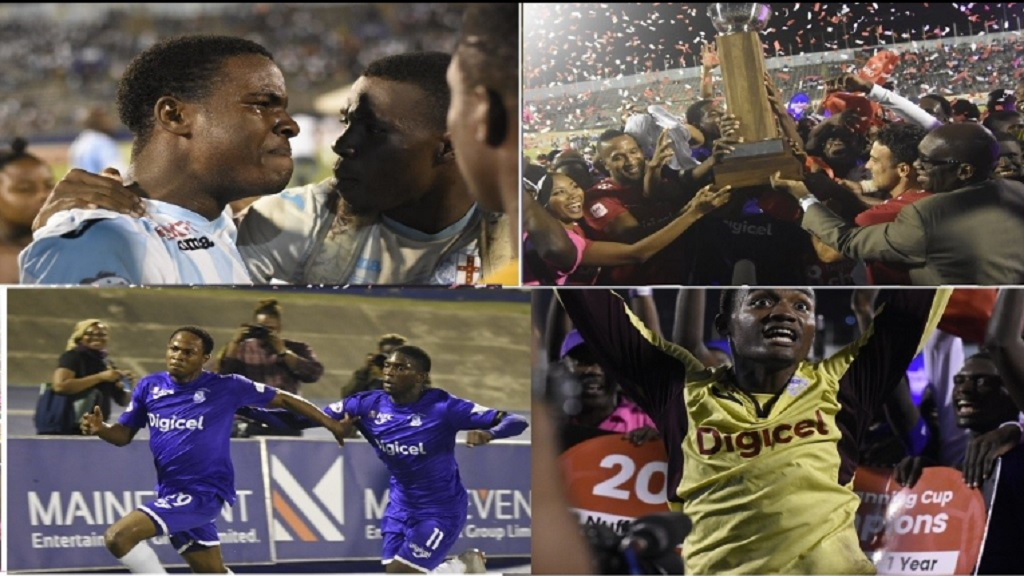 This combination of pictures shows some of the moments from the ISSA/Digicel Manning Cup final between Kingston College and St George's College at the National Stadium on Friday, November 30, 2018. (PHOTOS: Marlon Reid).