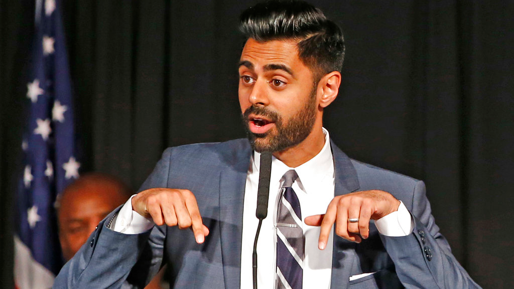 "In this May 10, 2017 file photo, Muslim-American comedian Hasan Minhaj cracks jokes for the audience after New York Mayor Bill de Blasio proclaimed May 10th as ""Hasan Minhaj Day,"" at Gracie Mansion, in New York. In December 2018, Netflix is facing criticism for pulling an episode, from viewing in Saudi Arabia of Minhaj's ""Patriot Act"" that lambasted Saudi Crown Prince Mohammed bin Salman over the killing of writer Jamal Khashoggi and the Saudi-led war in Yemen. (AP Photo/Kathy Willens, File)"
