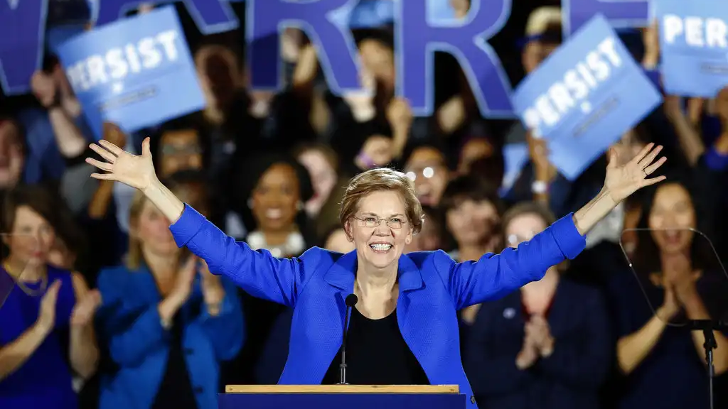 In this Nov. 6, 2018, file photo, Sen. Elizabeth Warren, D-Mass., gives her victory speech at a Democratic election watch party in Boston. (AP Photo/Michael Dwyer, File)