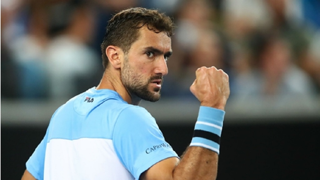 Marin Cilic celebrates against Fernando Verdasco.