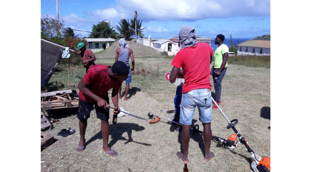 Some of the Chalky Mount, St Andrew residents who participated in the cleanup.