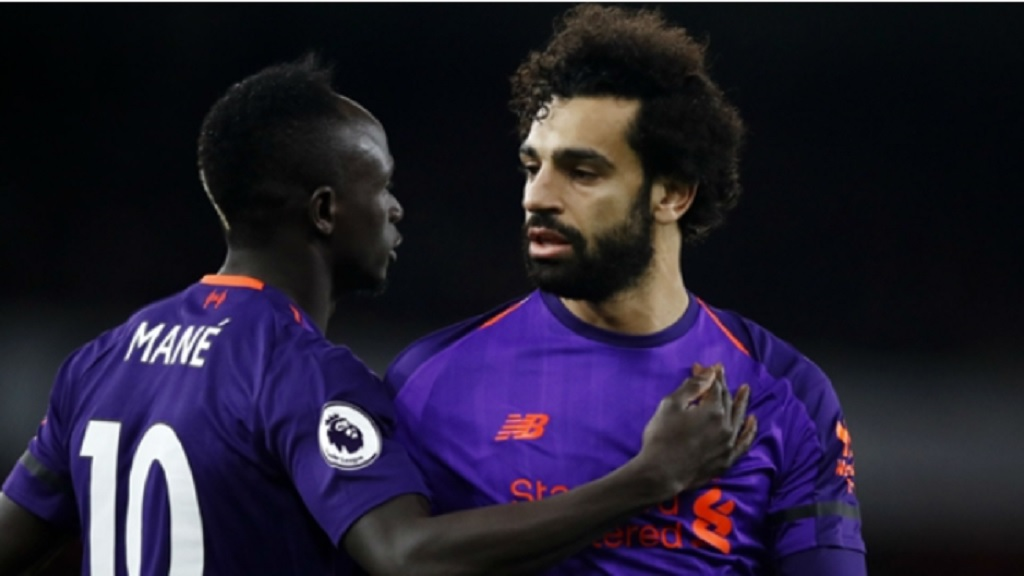 Liverpool pair Mohamed Salah (right), Sadio Mane.
