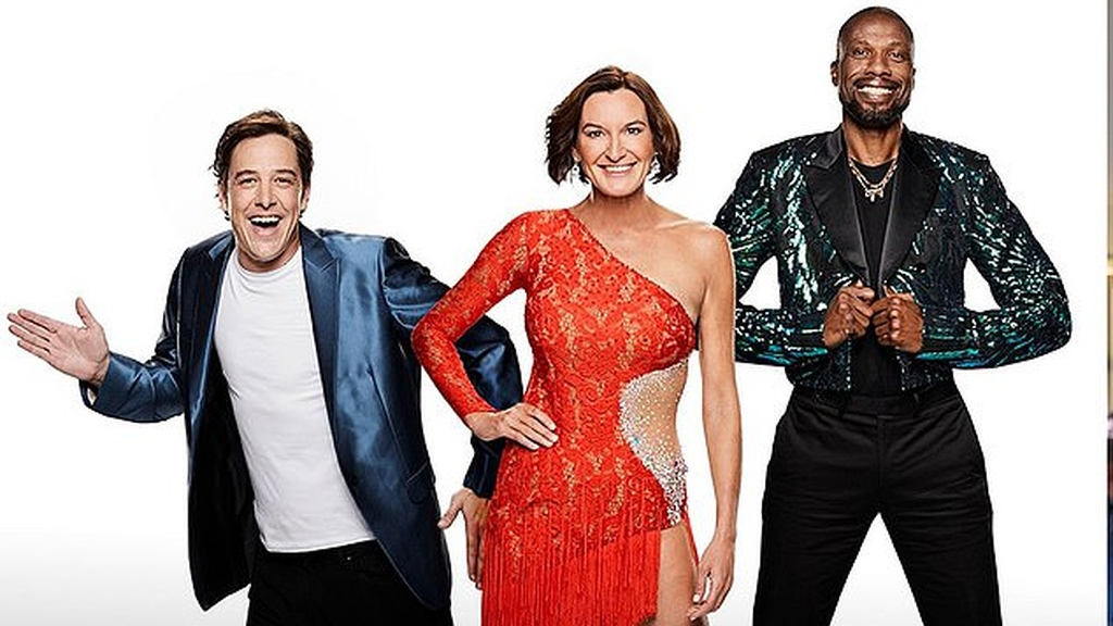 Curtly Ambrose, right, is among the first batch of stars announced for Dancing With the Stars Australia, Samuel Johnson, left and Cassandra Thorburn are also in the show.