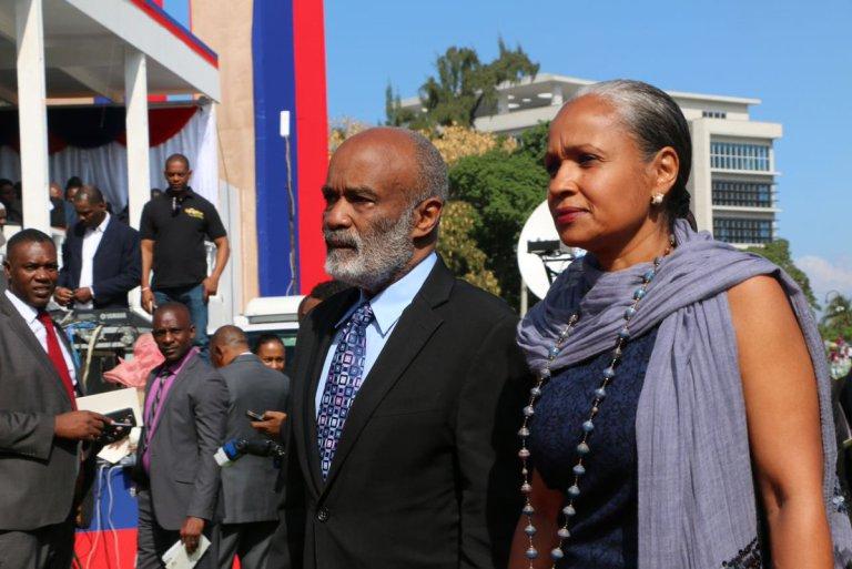 René Préval et son épouse Elisabeth D. Préval/ Photo: L'union Suite