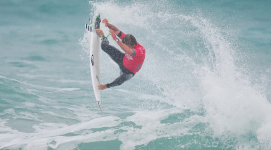 Josh Burke during his Round 1 heat Florida Pro. PHOTO: WSL