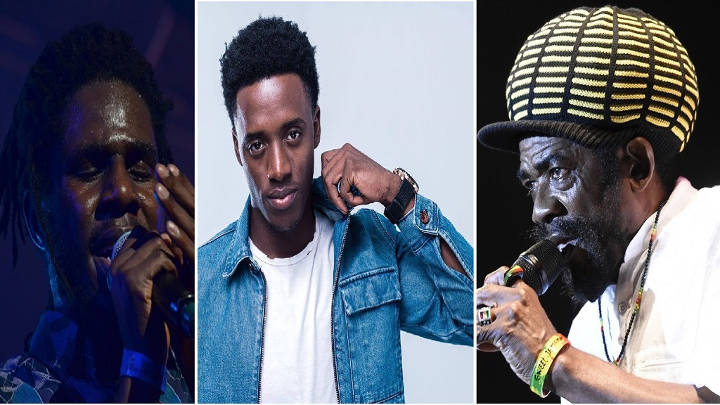 (From left) Chronixx, Romain Virgo and Cocoa Tea.