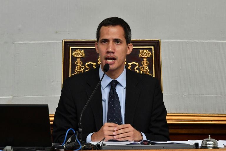 Le président autoproclamé du Venezuela Juan Guaido, à l'Assemblée nationale à Caracas, le 29 janvier 2019