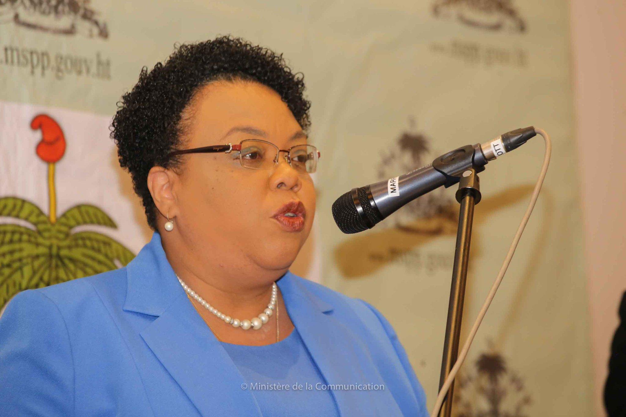 Marie Gréta Roy Clément, ministre de la santé publique et de la population (MSPP)