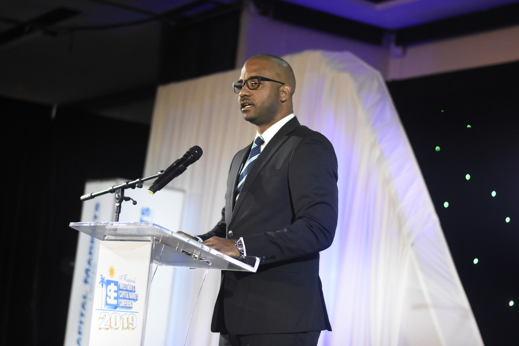 NCB Capital Markets CEO Steven Gooden said the new end-to-end IPO solution will be available by March this year. (Photo: Marlon Reid)